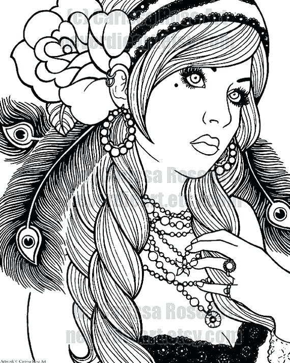570x713 Tattoo Coloring Pages To Print Also Digital Coloring Pages Digital