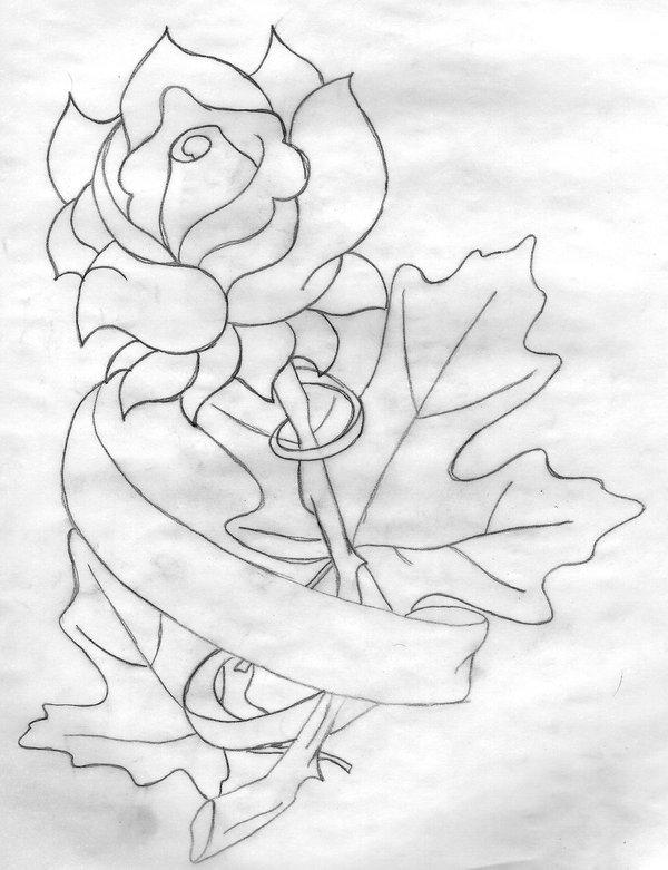 600x781 Rose With Autumn Leaves By Avanderheide