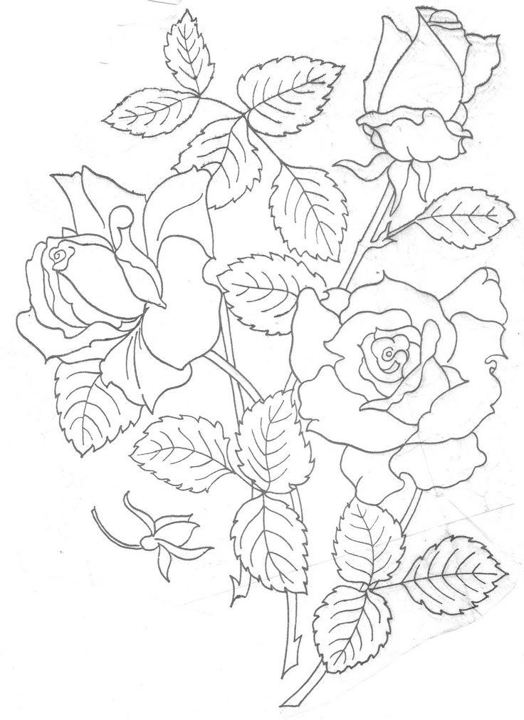 Rose Pattern Drawing
