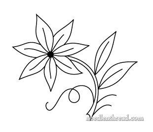 310x269 Drawn Flower Single