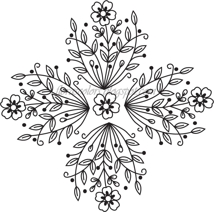695x689 Flora's Colors Free Hand Embroidery Pattern