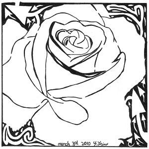 300x300 Rose Petals Drawings