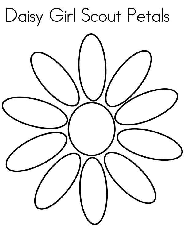 600x776 Daisy Flower Daisy Girl Scout Petals Coloring Page