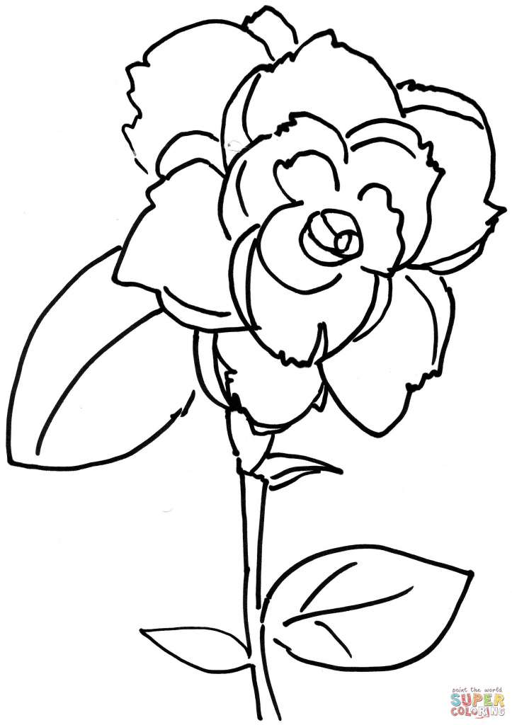 723x1024 Rose Flower Drawing Games Rose Flower Coloring Page Free