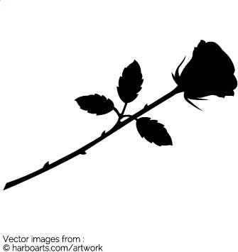 335x355 Download Single Rose Silhouette
