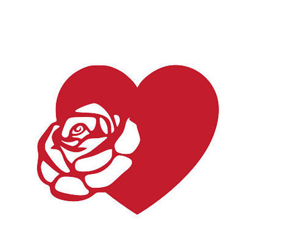 570x466 Heart Rose SVG for Cricut and Silhouette from RnBSVGs on Etsy Studio