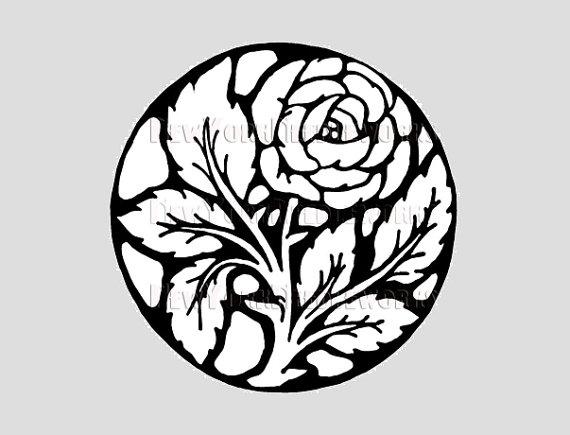 570x435 Rose Silhouette Pattern Rose Pattern Cross Stitch Roses