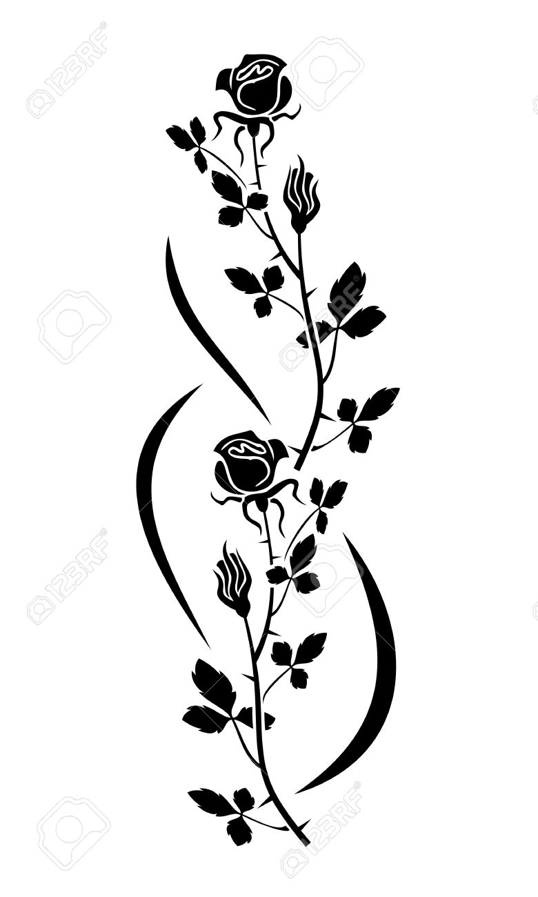 780x1300 Rose Silhouette Royalty Free Cliparts, Vectors, And Stock