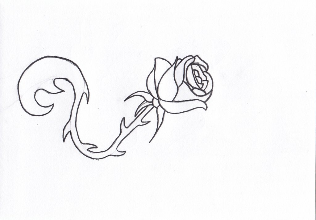 1024x715 Simple Rose Tattoo Design By Ampgraphicart