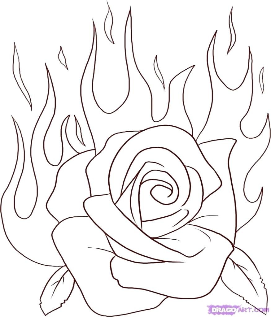 875x1024 Coloring Coloring A Rose