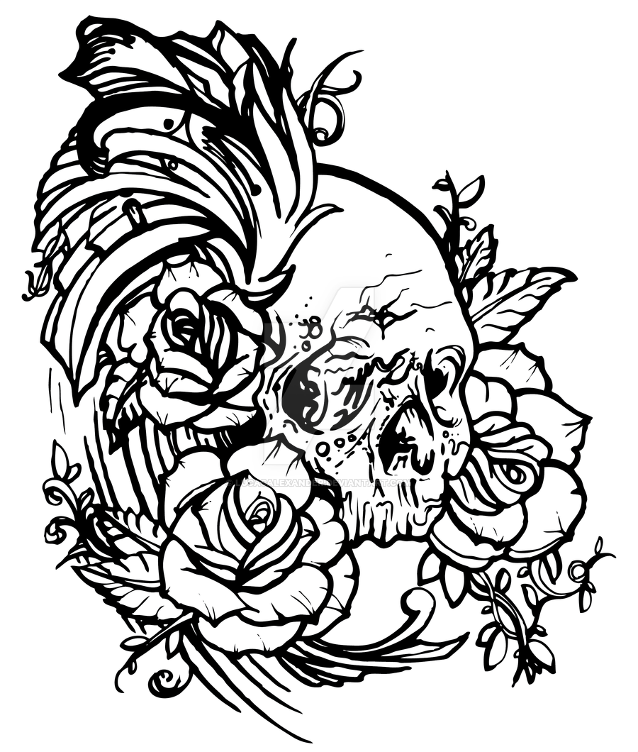 Rose Skull Drawing At Getdrawings Com Free For Personal Use Rose