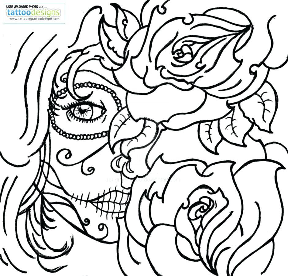 Rose Skull Drawing at GetDrawings.com | Free for personal use Rose ...