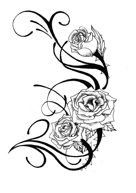 1024x1453 Rose Tattoo Designs Free Cool Tattoos