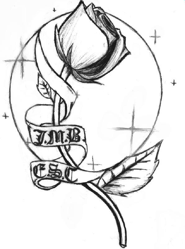 596x800 Rose Tattoo By Supersibataru