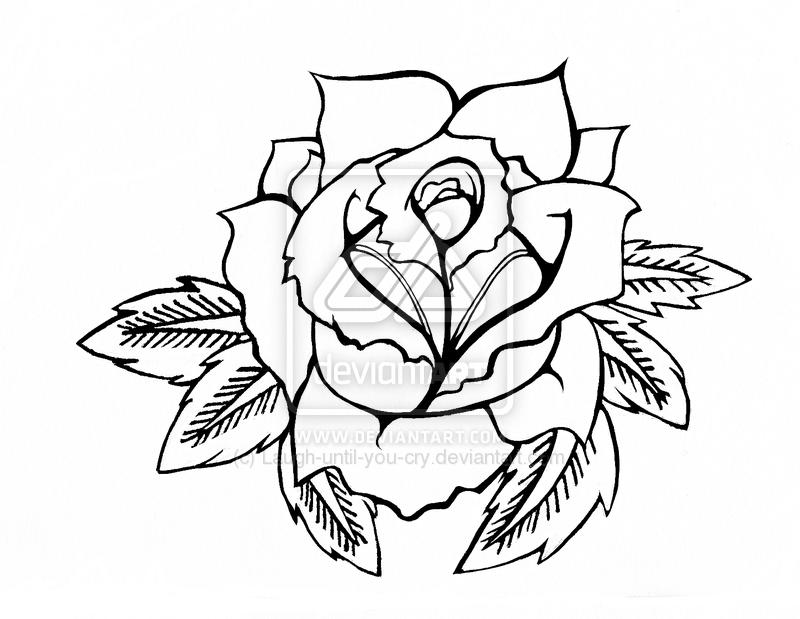 800x619 Rose Tattoos Traditional Rose Tattoos Designs Outline