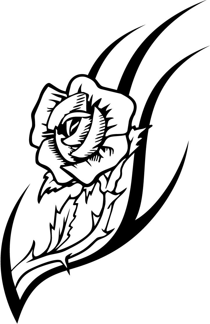 photo relating to Printable Tattoo Stencils referred to as Rose Tattoo Drawing Programs at  Totally free for