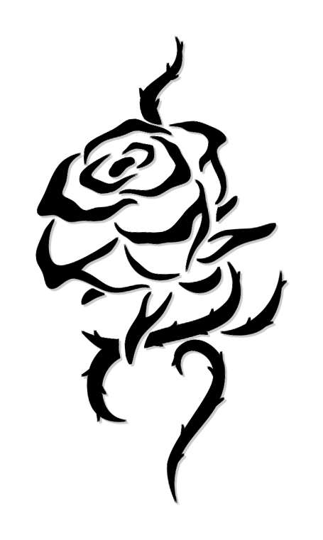455x761 26 Beautiful Tribal Rose Tattoos Only Tribal