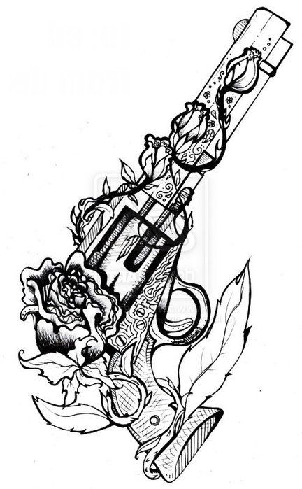 432x699 Drawings Of Guns Cool Drawings Of Guns And Roses Tagged With Gun