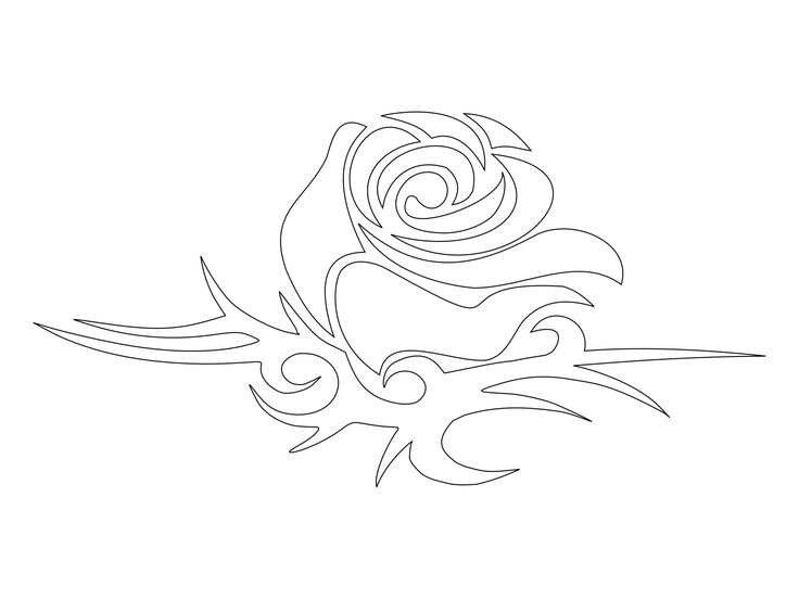 736x552 9 Best Rose Tattoo Stencils Images On Tattoo Stencils