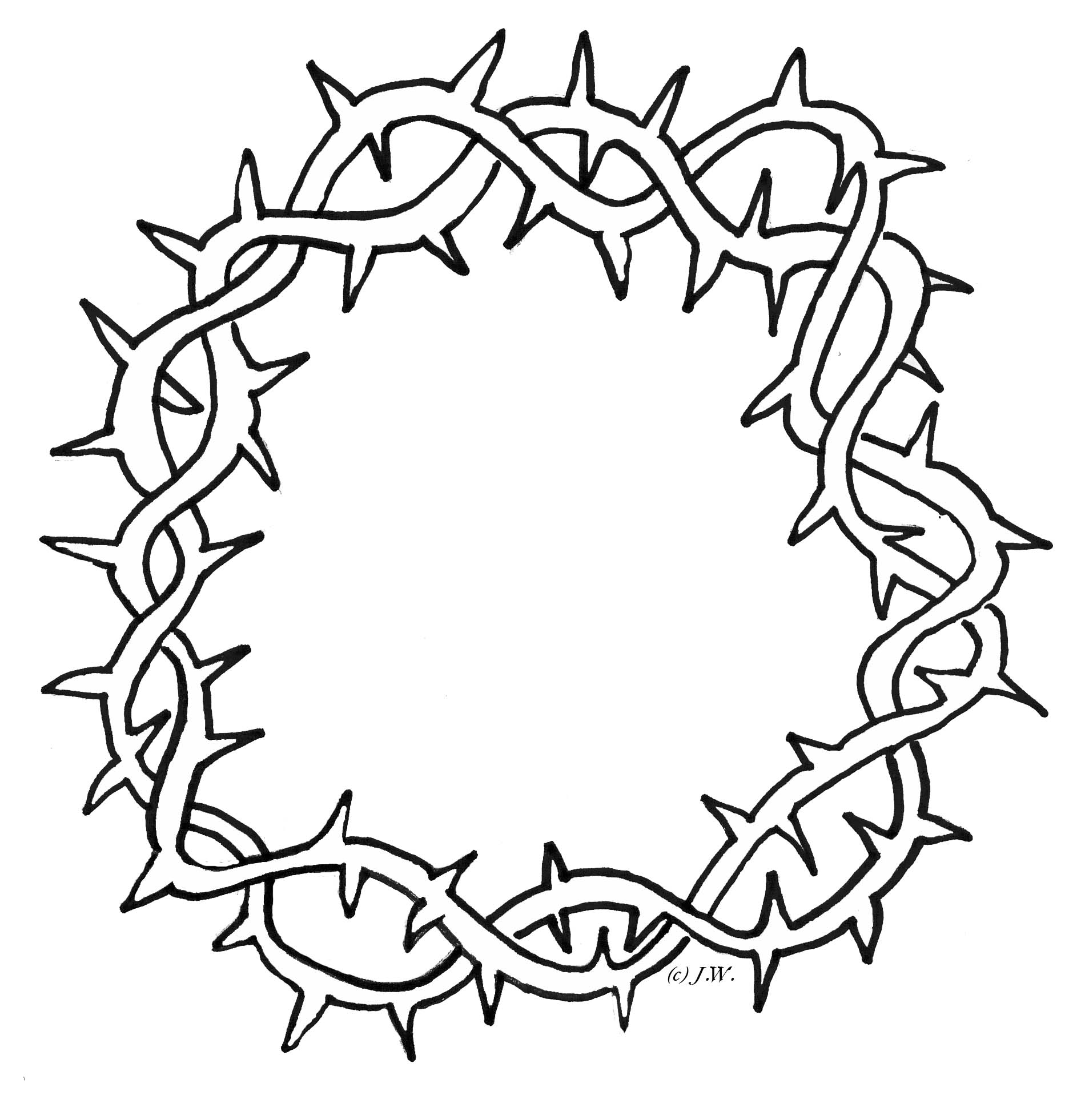 1900x1962 Crown Of Thorns Clipart