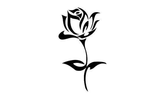 570x343 Rose Flower Vinyl Decals Rose Thorn Yeti Decal Vinyl Car