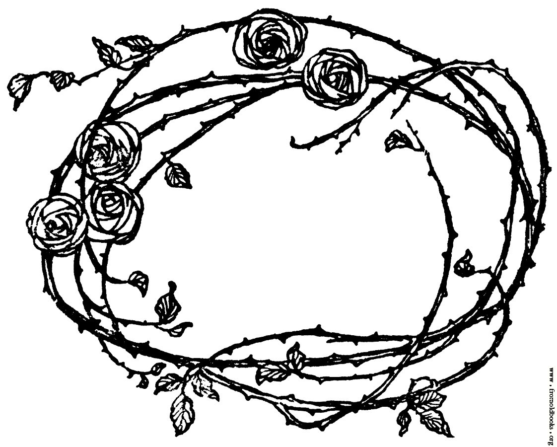 1122x900 Border Of Roses And Thorns