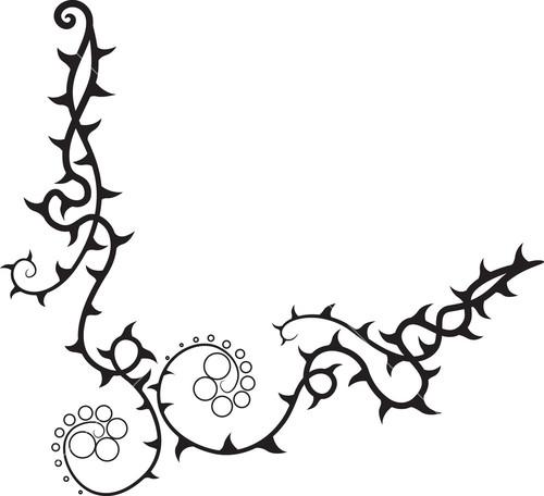 500x456 Branch Clipart Thorn