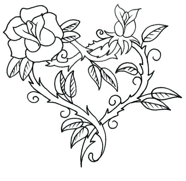 600x581 Coloring Page Rose Hearts With Wings And Halo Coloring Pages Roses