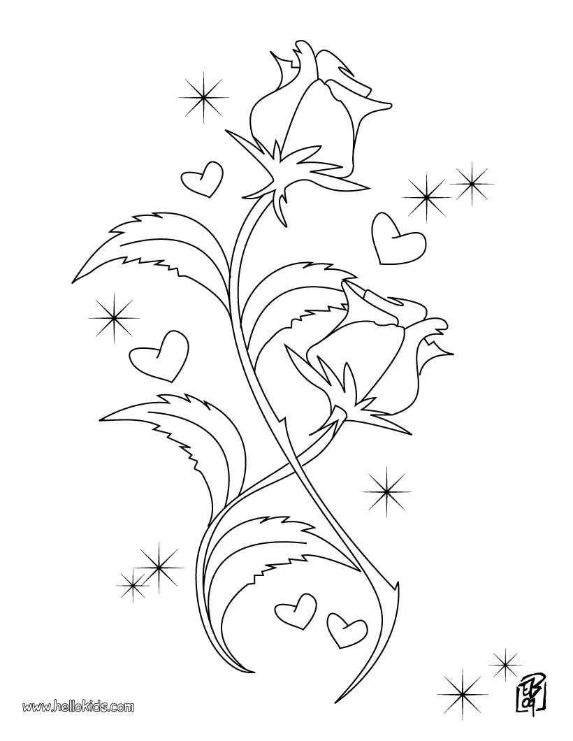 820x1060 Rose Coloring Pages, Reading Amp Learning, Drawing For Kids