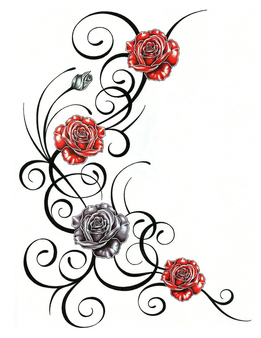 Rose Vine Drawing At Getdrawings Free Download