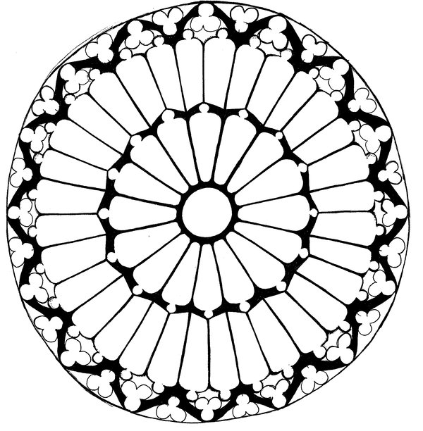 600x612 Notre Dame Rose Window By Gookygobble