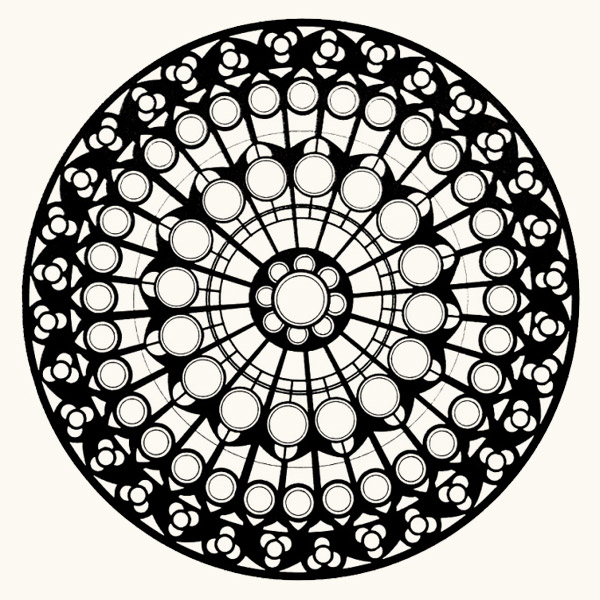600x600 Rose Window