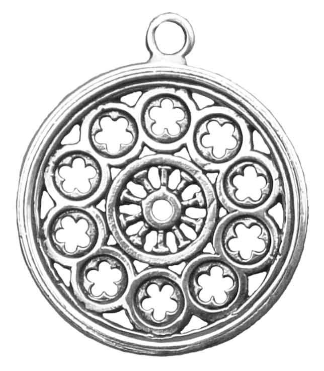 644x737 Rose Window Pendant Large