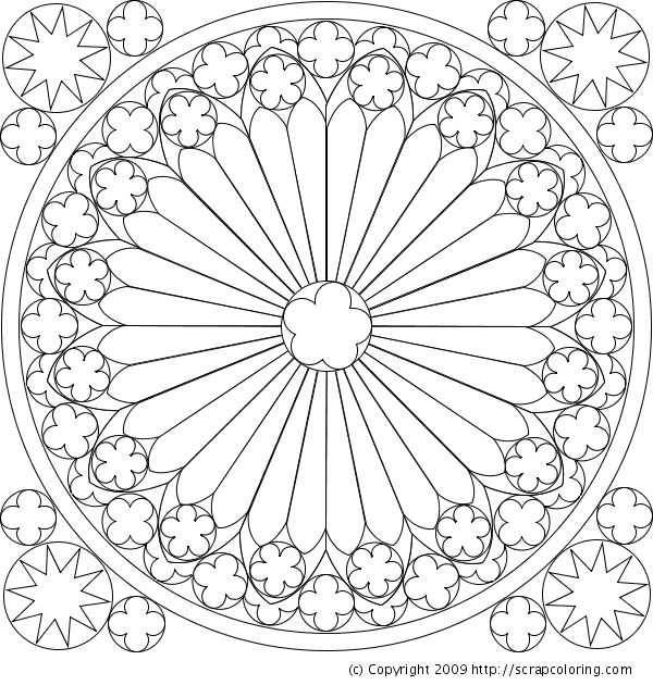 600x630 Rose Window Coloring Page The Hunchback Of Notre Dame
