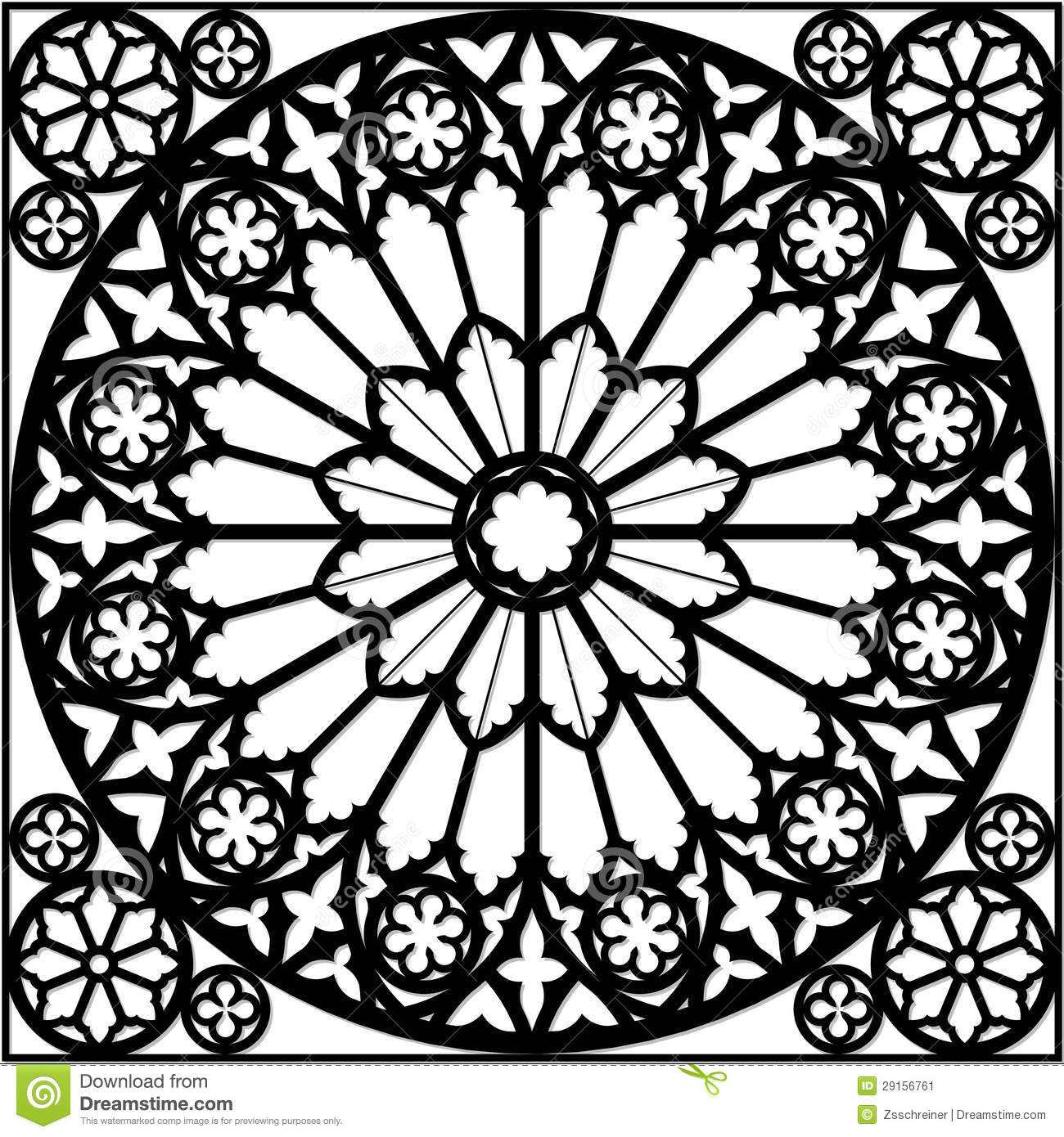 1300x1390 Rose Window Of Notre Dame Tattoo Rose Window