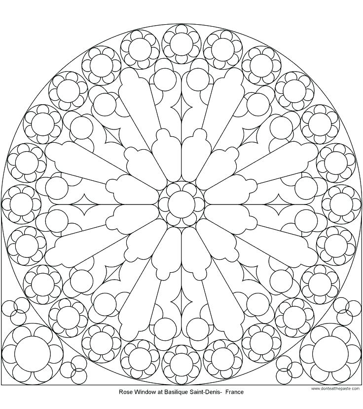 736x828 Stained Glass Window Coloring Page Stained Glass Windows Coloring