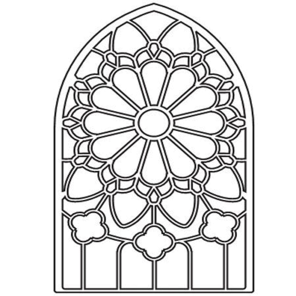 1000x1000 Stained Glass Window Coloring Pages Collection