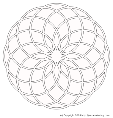 380x399 Dahlia Rose Window Coloring Page