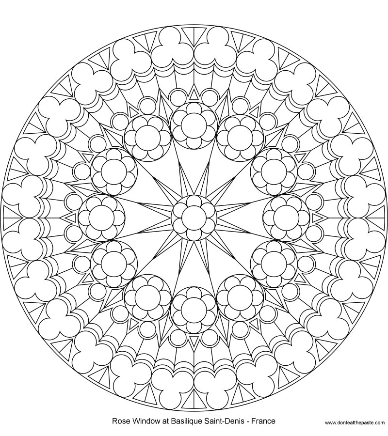 800x900 Don'T Eat The Paste Coloring Page Rose Window