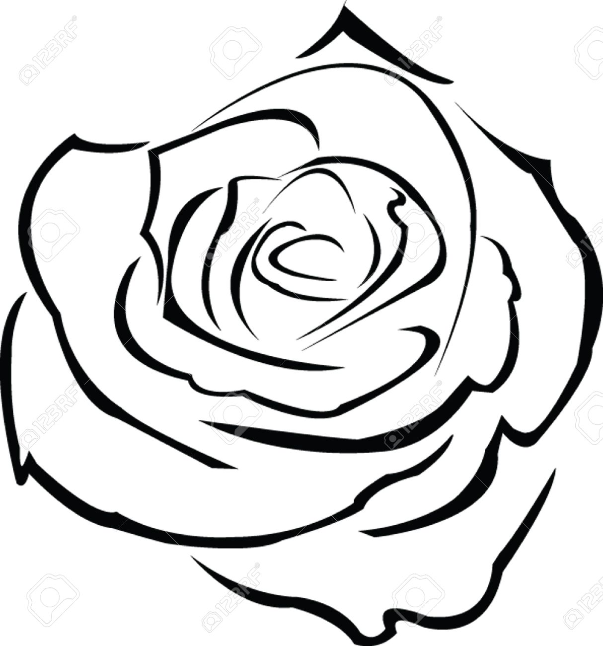 1214x1300 Drawn Red Rose Thorn Clipart
