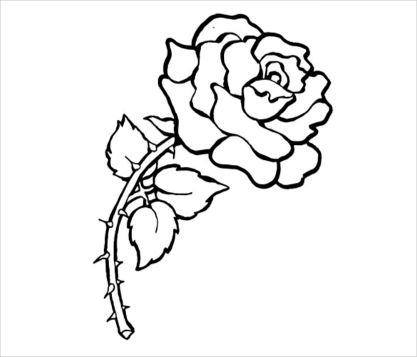 585x500 flower coloring pages 22 free psd ai vector eps format