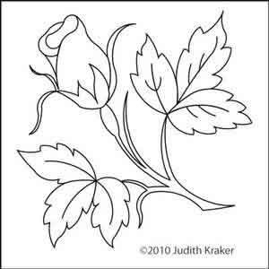 300x300 Judith's Rosebud Block Judith Kraker Digitized Quilting Designs