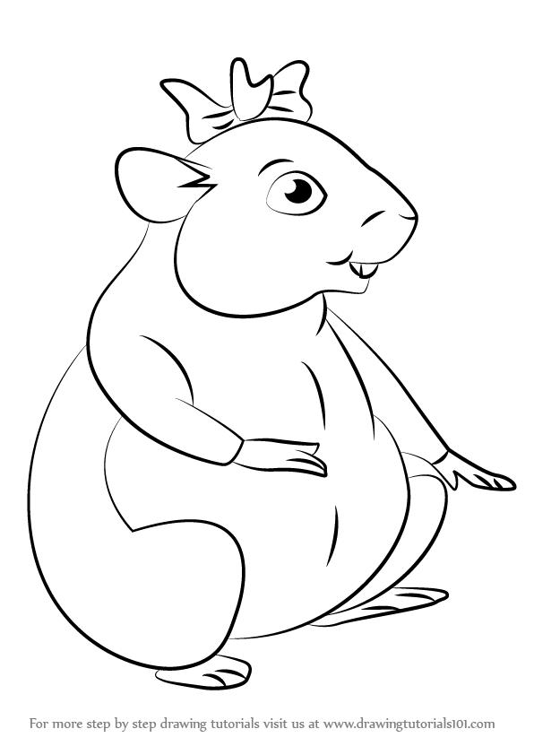 596x842 Learn How To Draw Rosebud From Horrid Henry (Horrid Henry) Step By
