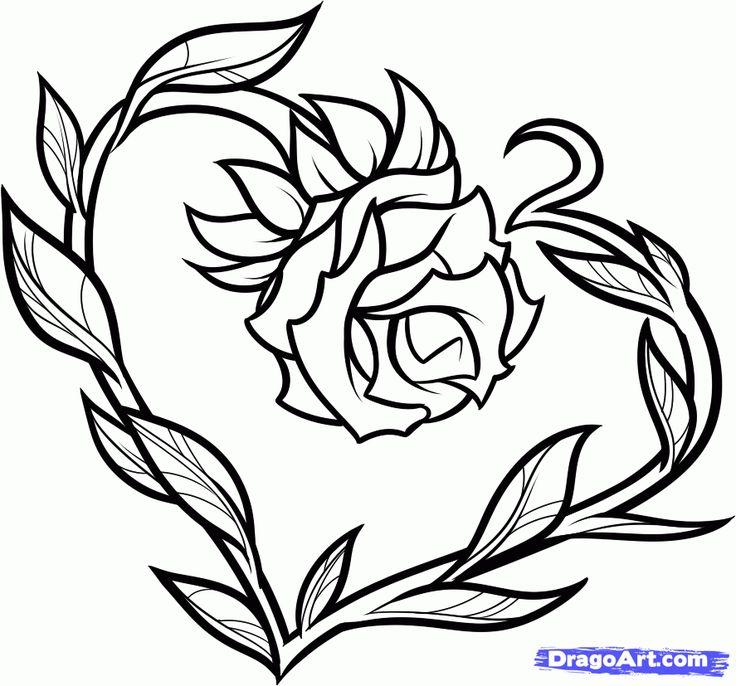 736x686 Drawn Rose Love Heart