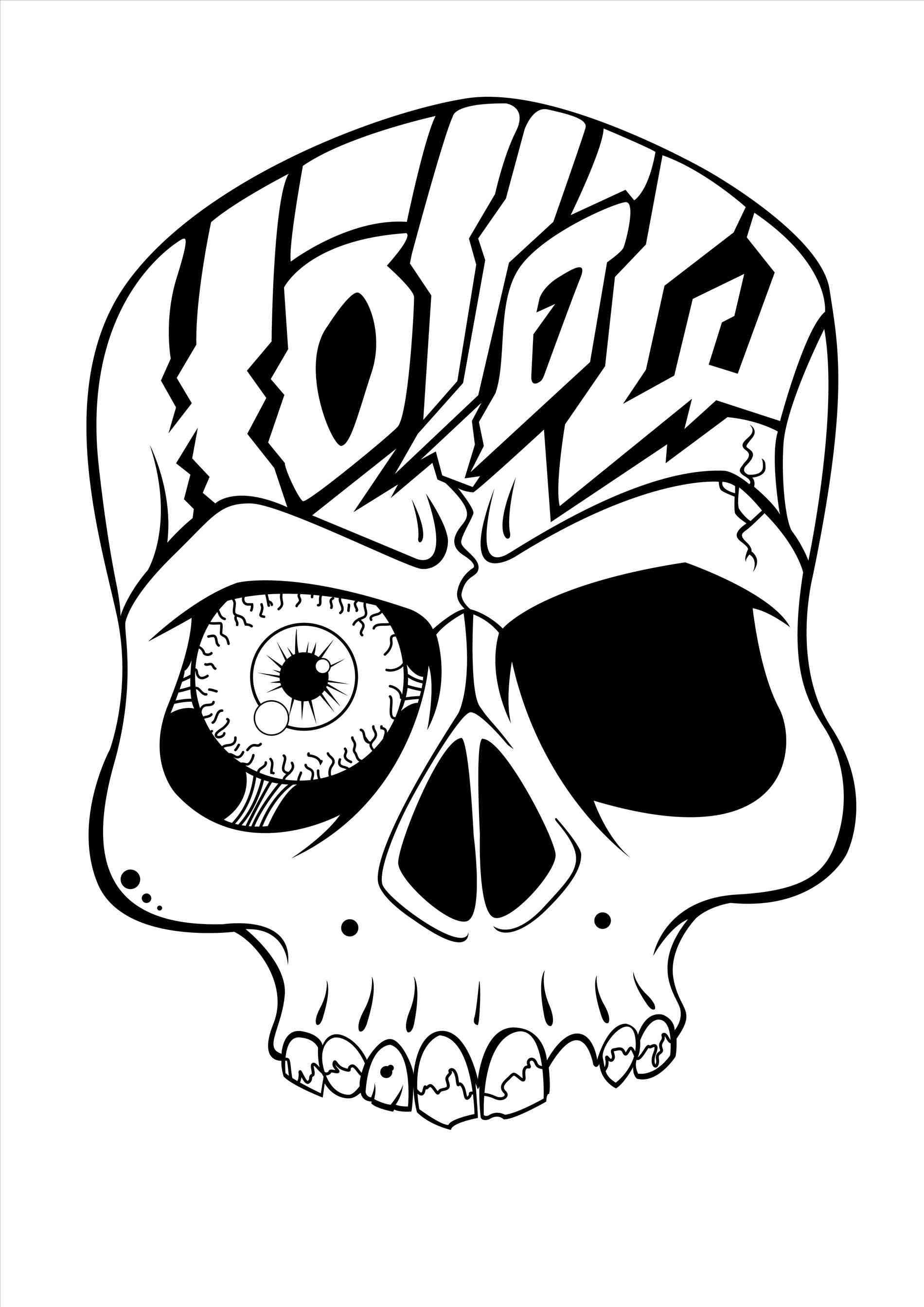 1900x2686 Cool Easy Drawings Of Skulls With Roses