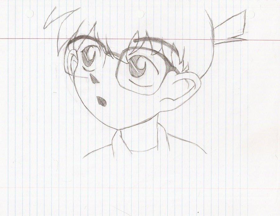 900x695 Edogawa Conan 2 Pencil Sketch By C Rose Artist