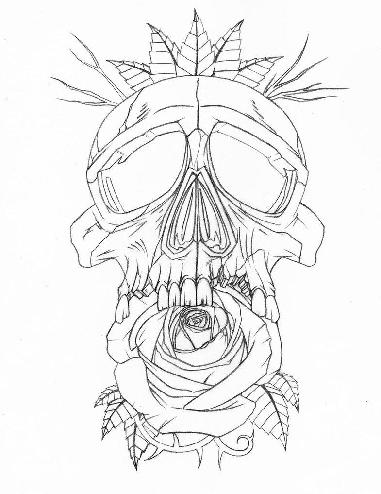 785x1017 Skullrose Tattoo By Johnvichlenski