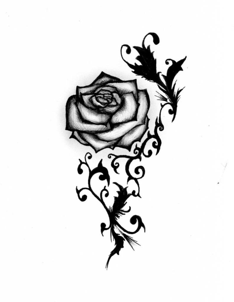 793x1024 Small Rose Drawings Small Rose Tattoo Designs Tattoo Body
