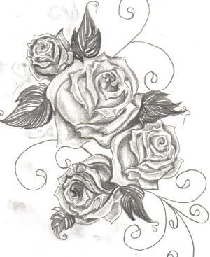300x367 Upper Thigh Roses Tattoo By Iris Flower Ink Rose