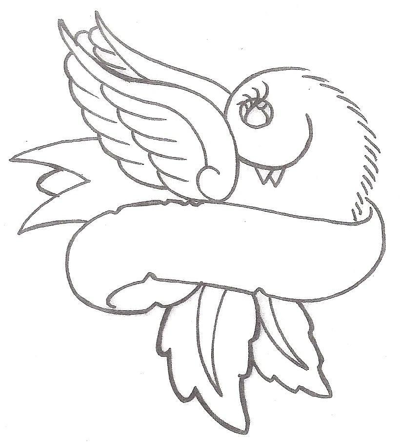 820x910 Animal Tattoo Designs Bird And Banner Tattoo Dove Ribbon Tattoo